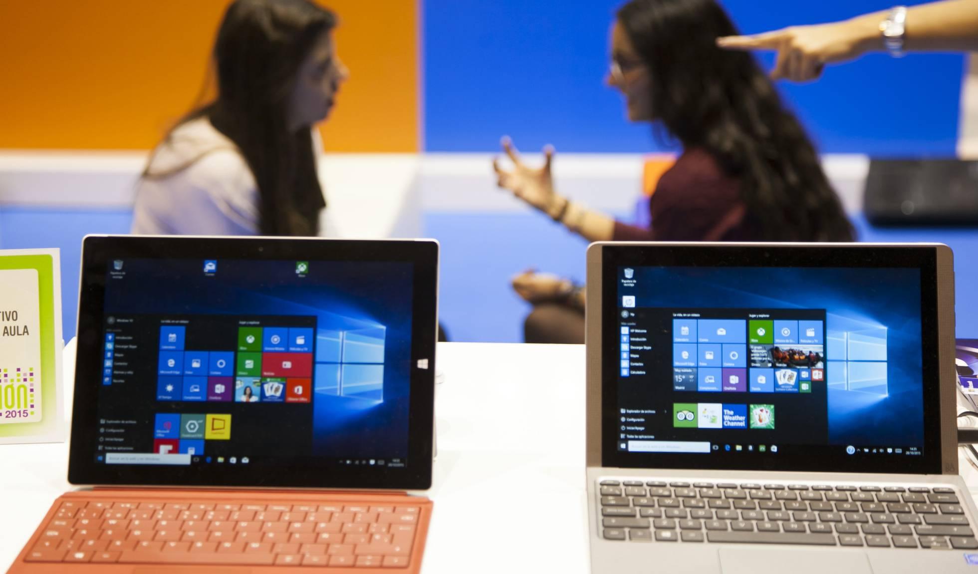 Portátiles con el Windows 10 de Microsoft.
