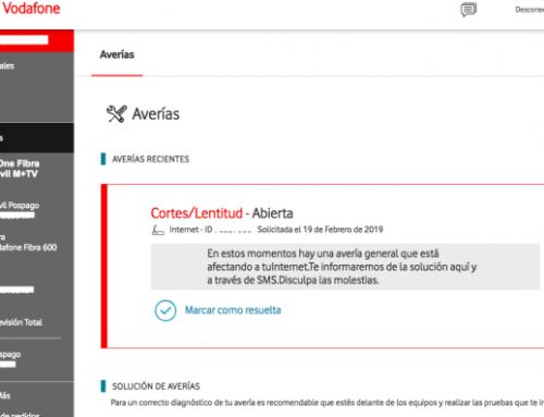 Vodafone deja sin internet a sus clientes en toda España